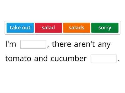 Dialog at the salad bar