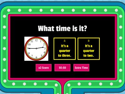 Y4 - What time is it?