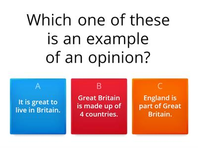 Quiz - Fact or Opinion