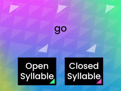 Open & Closed Syllables
