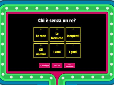 Le rane chiedono un Re... con il Gameshow Quiz