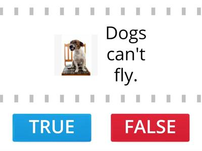 TRUE or False Can/can't