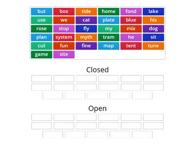 of Open or closed syllable?