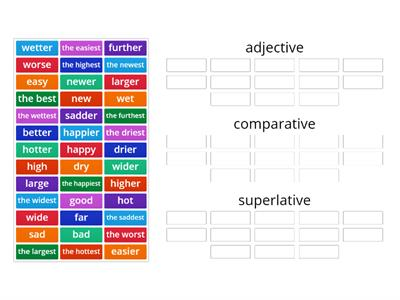 short adjectives comparatives and superlatives