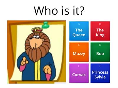 Muzzy Part 1 Characters quiz