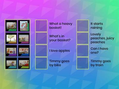 Un.9 ex.4 story card and sentences