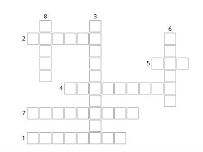 Crossword - The first letter of each answer is the code.