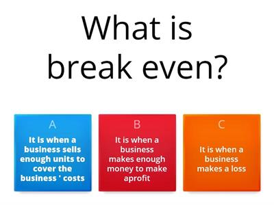 Break even - AAT - Management Accounting