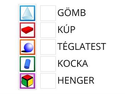 3D shapes in Hungarian