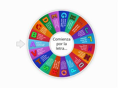 Ruleta de letras facil