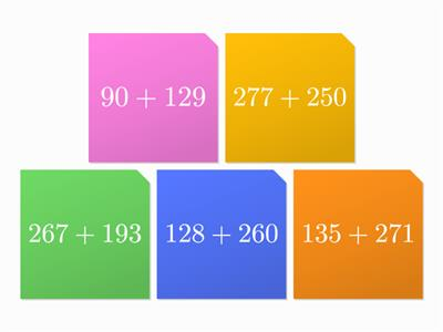 Maths Starter 3 digit addition