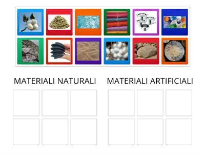 MATERIALI NATURALI E ARTIFICIALI