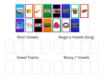 Sort the vowel type (pictures)