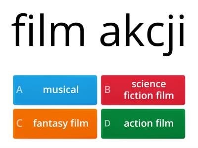 Unit 1 - Types of films - TEST