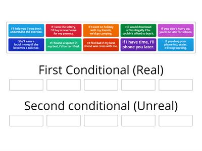 First or Second Conditional