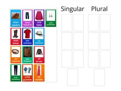 La ropa sort singular and plural