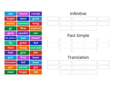 Past Simple - irregular verbs (part 2)