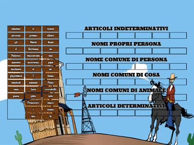 Analisi grammaticale nel Far West