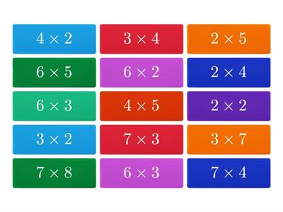 Maths tiles tables quiz