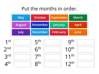 Copy of Months