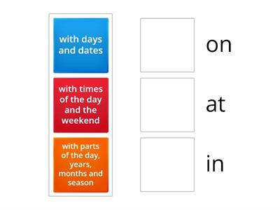 Prepositions of time RULE