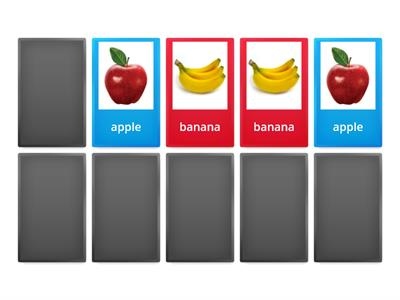 Match the fruit - images and text
