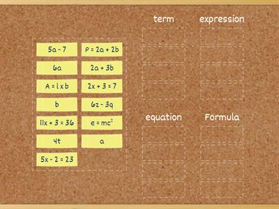 expression term equation