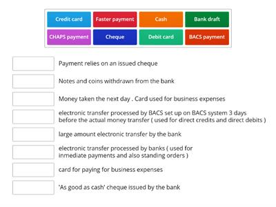 Payment Methods - Bookkeeping Controls - AAT level 2-