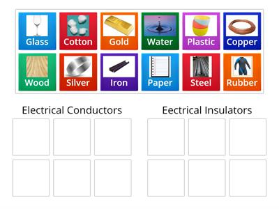 Sorting Conductors and Insulators (Clasifica los conductores y aisladores)