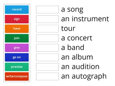 Music collocations
