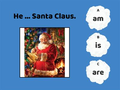 am, is, are + Christmas vocabulary