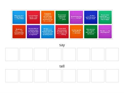 "Say or tell? move the question to the ""say"" or ""tell"" group"