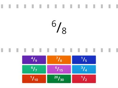 Match the Equivalent Fractions