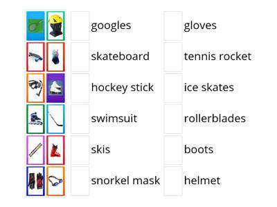 VOCABULARY GO GETTER 4 UNIT 3 Sports Equipment