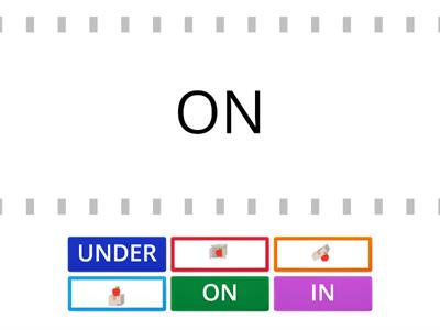PREPOSITIONS ON - IN - UNDER