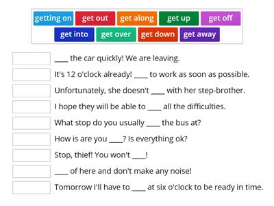 "Phrasal verb ""to get"""
