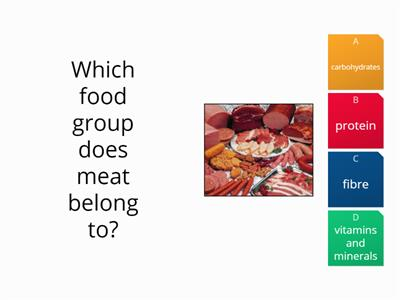 Y6 Quiz - food groups
