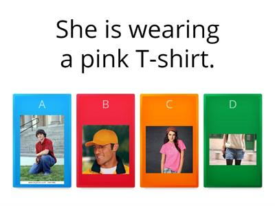 Clothes Quiz grade 2