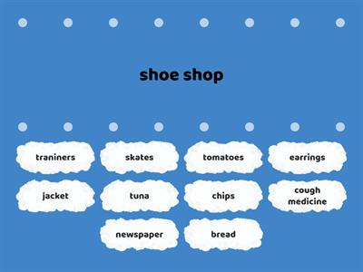 shops and shopping English Class A2