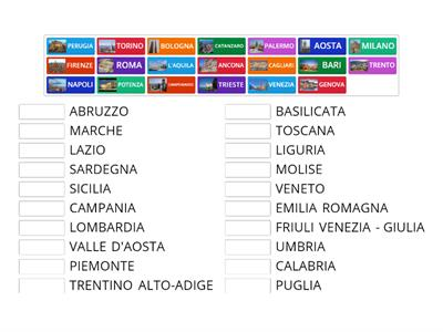 Cartina Italia Con Regioni E Capoluoghi.Regioni E Capoluoghi Italia Risorse Per L Insegnamento
