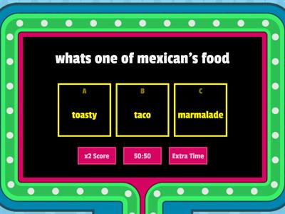Food Trivia quiz country food around the world