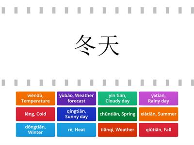 Chinese WordWall Activity (Choice Board HW)