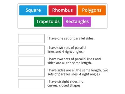 Polygons and Quadrilaterals Vocabulary