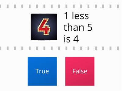 1 less true or false