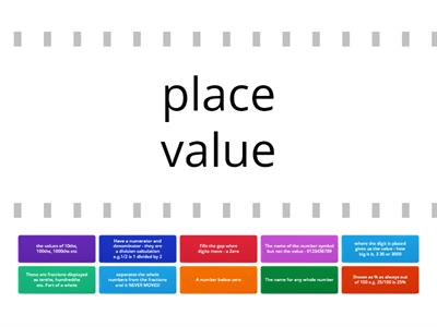 Vocabulary - place value