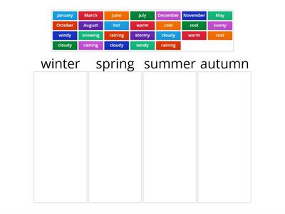 seasons, months, weather