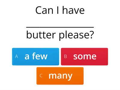 QUANTIFIERS / DETERMINERS EXERCISES - much/many/a lot of/some/any/(a)few/(a)little