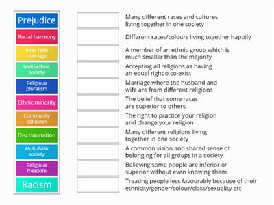 Match up community cohesion keywords