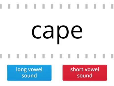 Long or short vowel sounds? HARD version