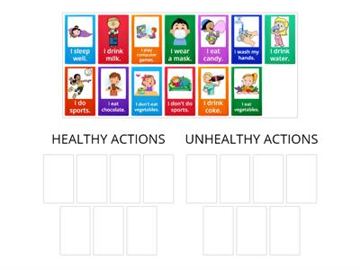 Healthy&Unhealthy actions sorting out